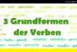 3 Grundformen der Verben - 3 formy podstawowe czasowników