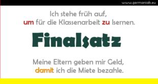 Finalsatz - zdanie okolicznikowe celu