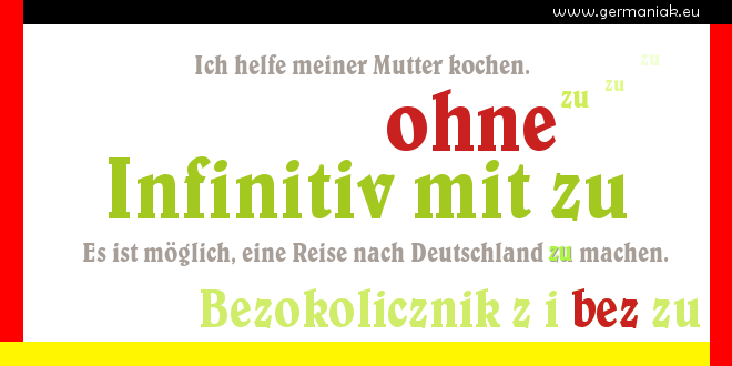 "Infinitiv mit und ohne zu - bezokolicznik z i bez ""zu"""