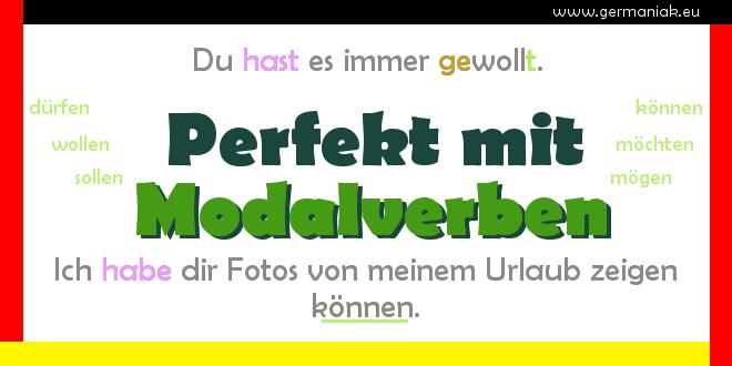 Perfekt mit Modalverben - czas przeszły Perfekt z czasownikami modalnymi