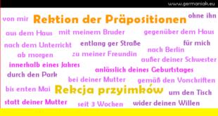 Rektion der Präpositionen - rekcja przyimków