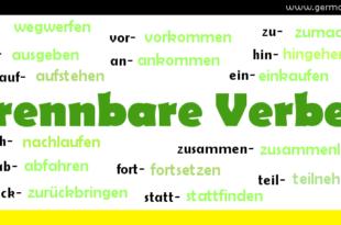 Trennbare Verben - czasowniki rozdzielnie złożone