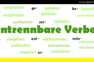 Untrennbare Verben - czasowniki nierozdzielnie złożone