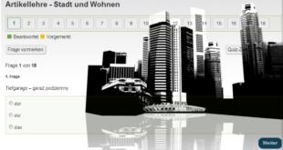 Artikellehre - Stadt und Wohnen