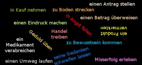 Deutsche verbale Wendungen