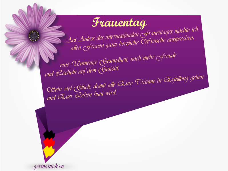 Frauentagswünsche Germaniakeu