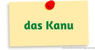 das Kanu - kanu