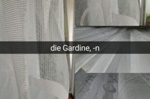 die Gardine