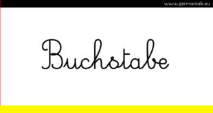 Buchstabe - literka